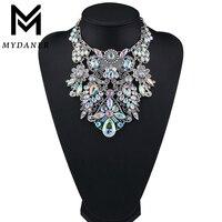 MYDANER модный бренд со стразами разноцветные богемные хорошее качество Коренастый Воротник для женщин колье Макси себе цепочки и ожерел