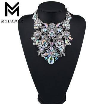 MYDANER, модный бренд, стразы, разноцветные, в богемном стиле, хорошее качество, Массивный воротник, для женщин, колье, макси, массивное ожерелье,...