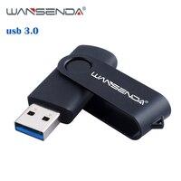 WANSENDA-unidad Flash USB de rotación, Pendrive de alta velocidad, 256GB, 128GB, 8GB, 16GB, 32GB, 64GB, 3. 0
