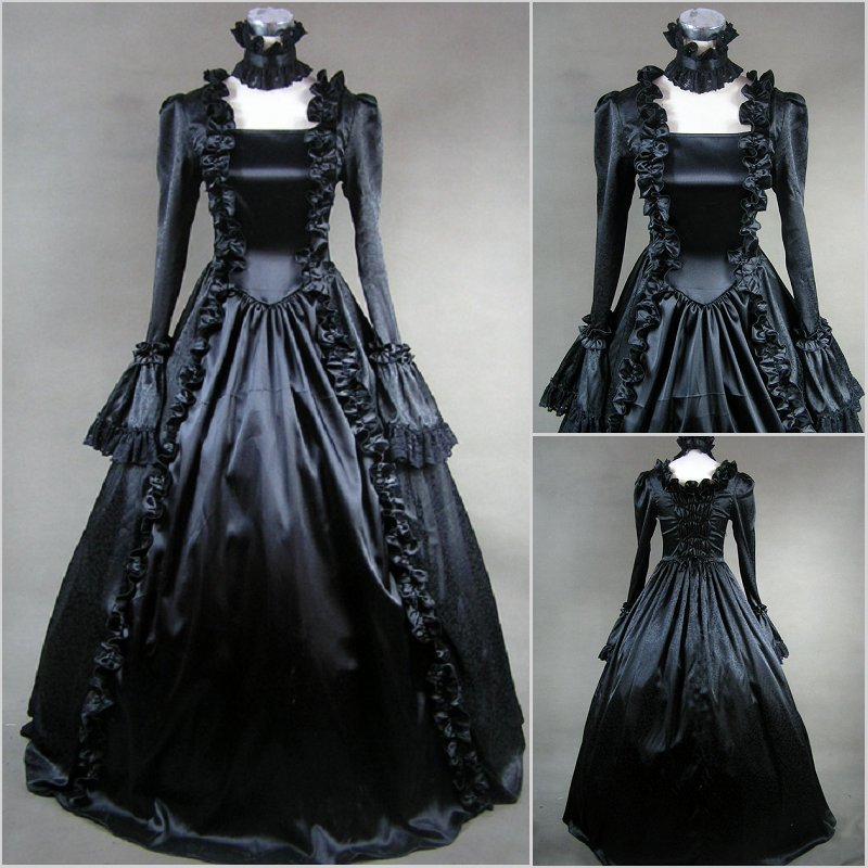 Custom Victorian Corset Lace Dress Gothic/Civil War Ball Gown Theater clothing Medieval Royal Velvet Vintage Cosplay Costume