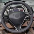 Capa para Honda CIVIC 8 3 raios volante cobre estilo Do Carro DIY couro genuíno Anti-slip respirável cobre