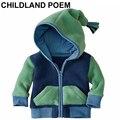 Осень детская одежда бархат флис детские зимние пальто И Пиджаки девушка новорожденный одежда С Капюшоном мальчиков детской одежды Куртки