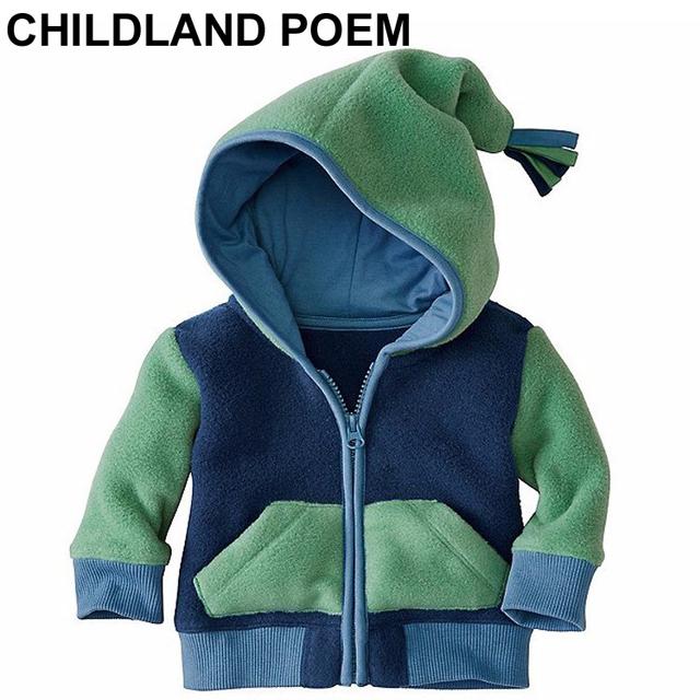 Otoño ropa de bebé de terciopelo de lana niños abrigos de invierno Outwear bebé recién nacido ropa Con Capucha bebé ropa de los muchachos niños Chaquetas