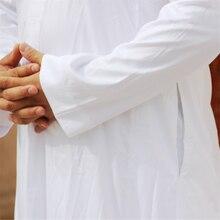 7Color Men Muslim Robes Islamic Clothing Dubai Arabic Abaya Kaftan  Eid Mubarak Prayer Maxi Jubba Thobe Man Traditional Costume