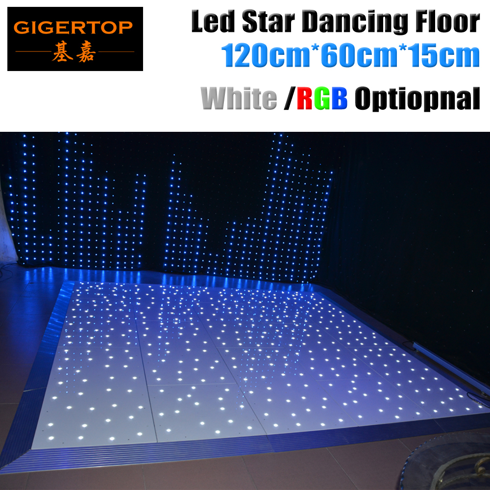 New Arrival Starlite Dance Floor 120cm X 60cm White / RGB Color Mixing Optional AC90-240V Led Star Dancing Floor Remote Control