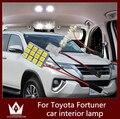 Guang Dian 6 pcs car light led Interior da lâmpada Telhado lâmpada Dome Painel de Led Ler Luz do pé da porta para Fortuner 2005-2016