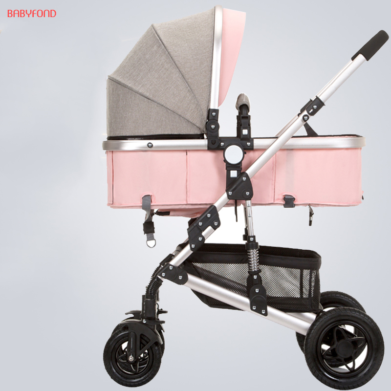 24 colors good quality baby stroller light folding shock absorbers bb baby car trolley 0~36months high Europea baby car 175 degrees baby stroller ultra light folding poussette prams shock absorbers folding baby car aluminum alloy