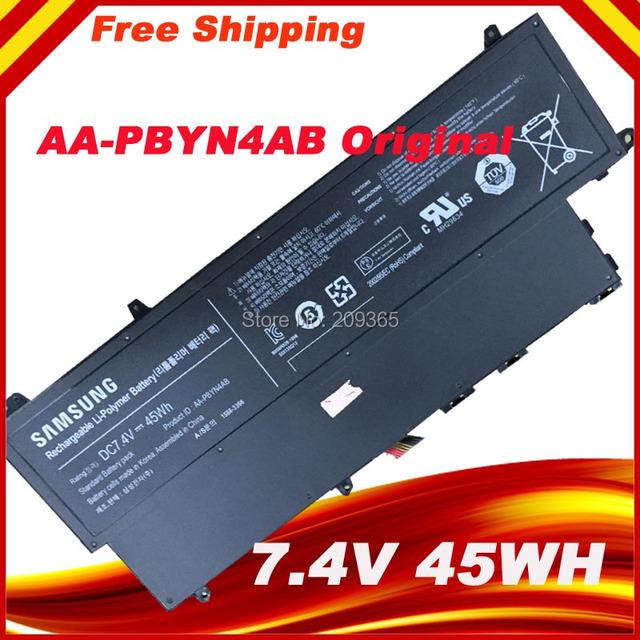 Envío libre aa-pbyn4ab batería original del ordenador portátil para samsung 530u3 530u3b 530u3c np530u3c pbyn4ab baterías 7.4 v 45wh