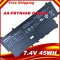 Frete grátis aa-pbyn4ab bateria do laptop original para samsung 530u3 530u3b 530u3c np530u3c pbyn4ab baterias 7.4 v 45wh
