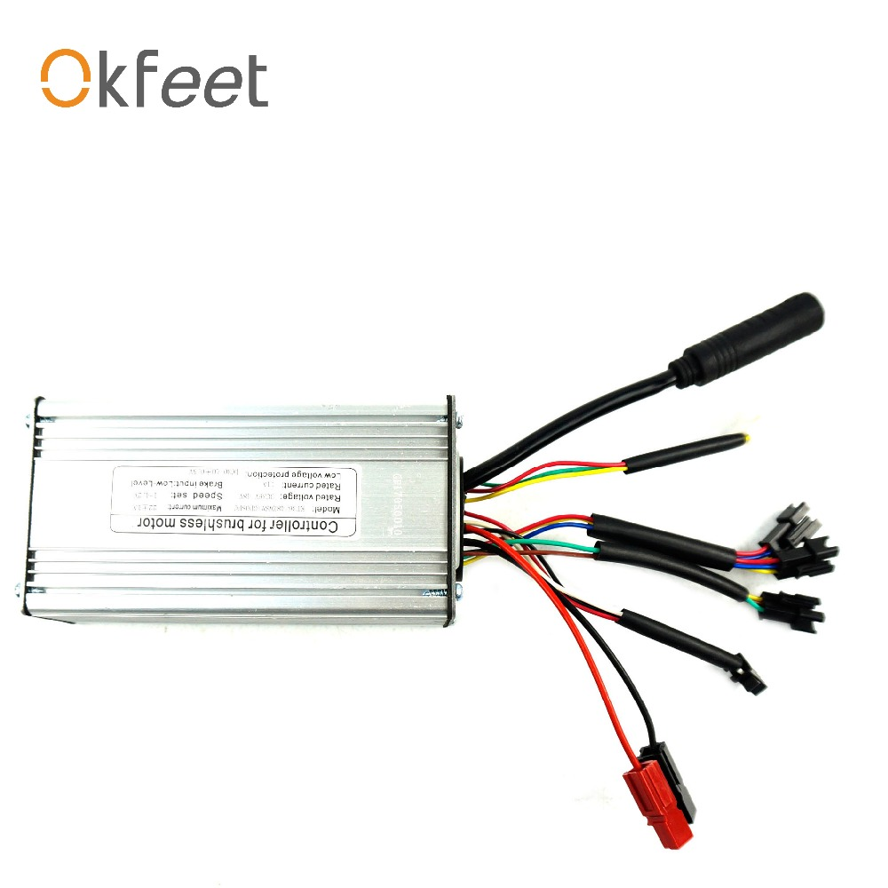 okfeet 500W motor Electric bicycle standard sine wave controller KT Series 36V 48V 22A