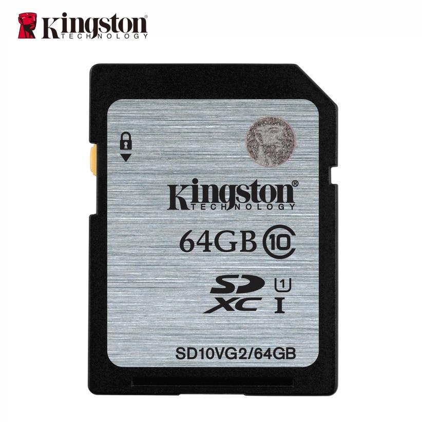 Kingston memory card 16gb 32gb 64gb 128gb sd hc xc SDHC SDXC uhs-i HD video class 10 cartao de memoria carte sd tarjeta genuine kingston sdhc class 10 sd card with write protection switch 16gb