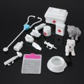 14PCs/set New High Quality Classic Toys Pretend Play Doctor Toys Set Mini Medical Equipment Toys for Fashion Doll Accessories