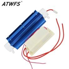 Atwfs neueste 220 v 10 gr/std wasser desinfektion behandlung suite ozon-generator wasser quarzrohr klima ozon luftreiniger