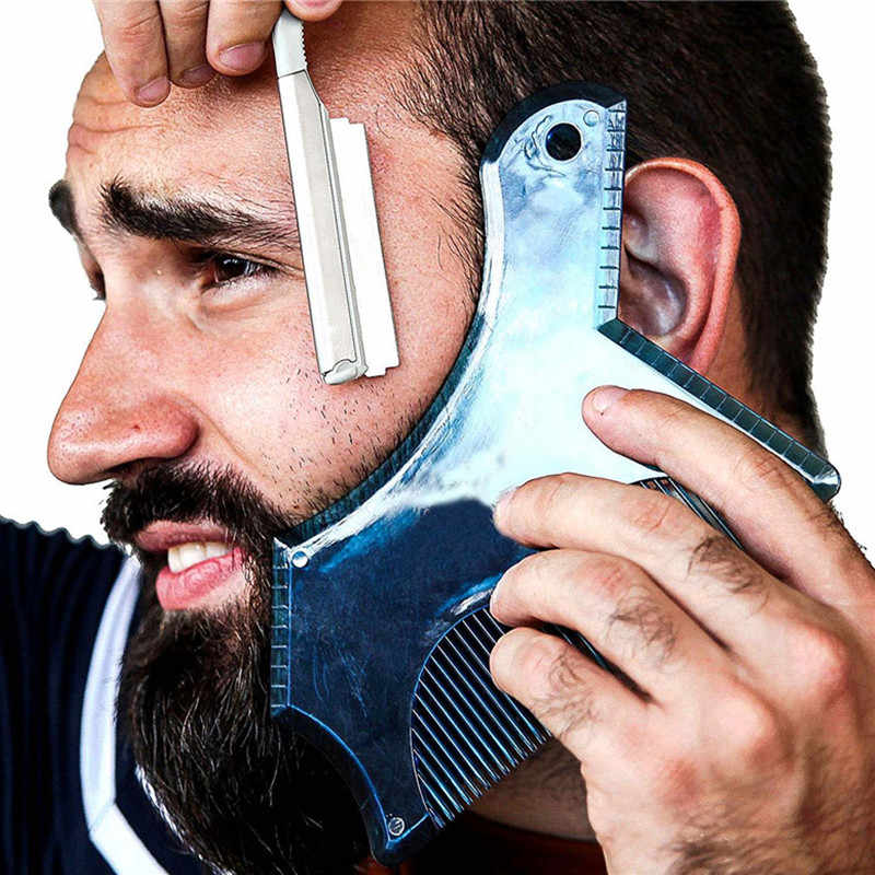 New Professional Beard Shaping & Styling Tool Comb Beard Shaper Stencil Use with Trimmer or Razor to Style Your Beard Shaving