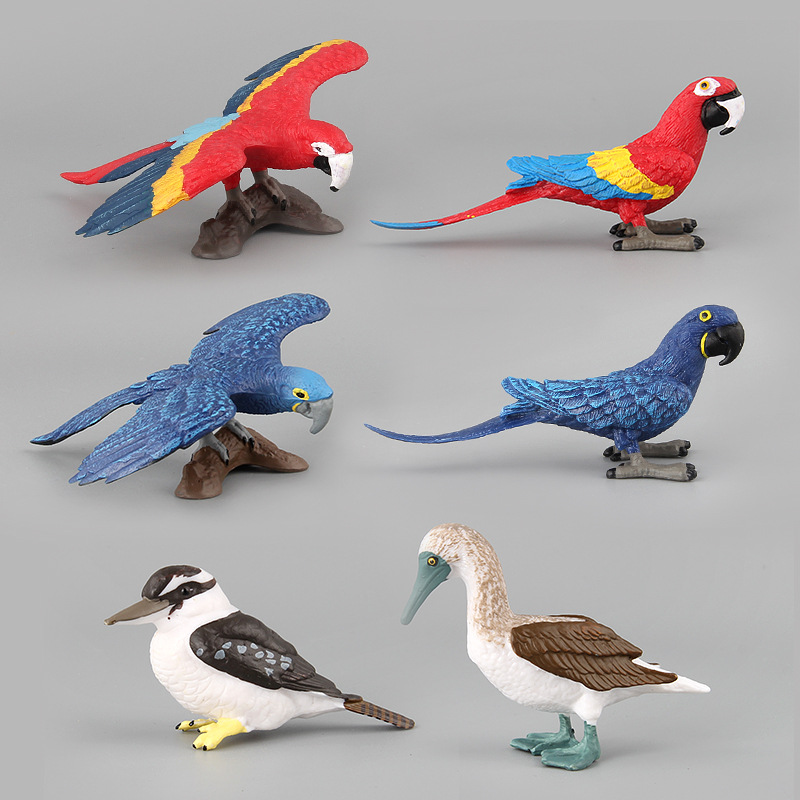Toy-Figure Model-Collectible Simulation Animal Children Gift for Kid 6-Styles Wildlife-Bird