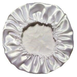Атласное шелковое ночное белье из полиэстера, 11 цветов - Цвет: White