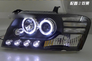 Image 5 - car bumper headlamp Pajero headlight V73 Montero 2000~2008y LED DRL car accessories HID xenon Pajero daytime light fog