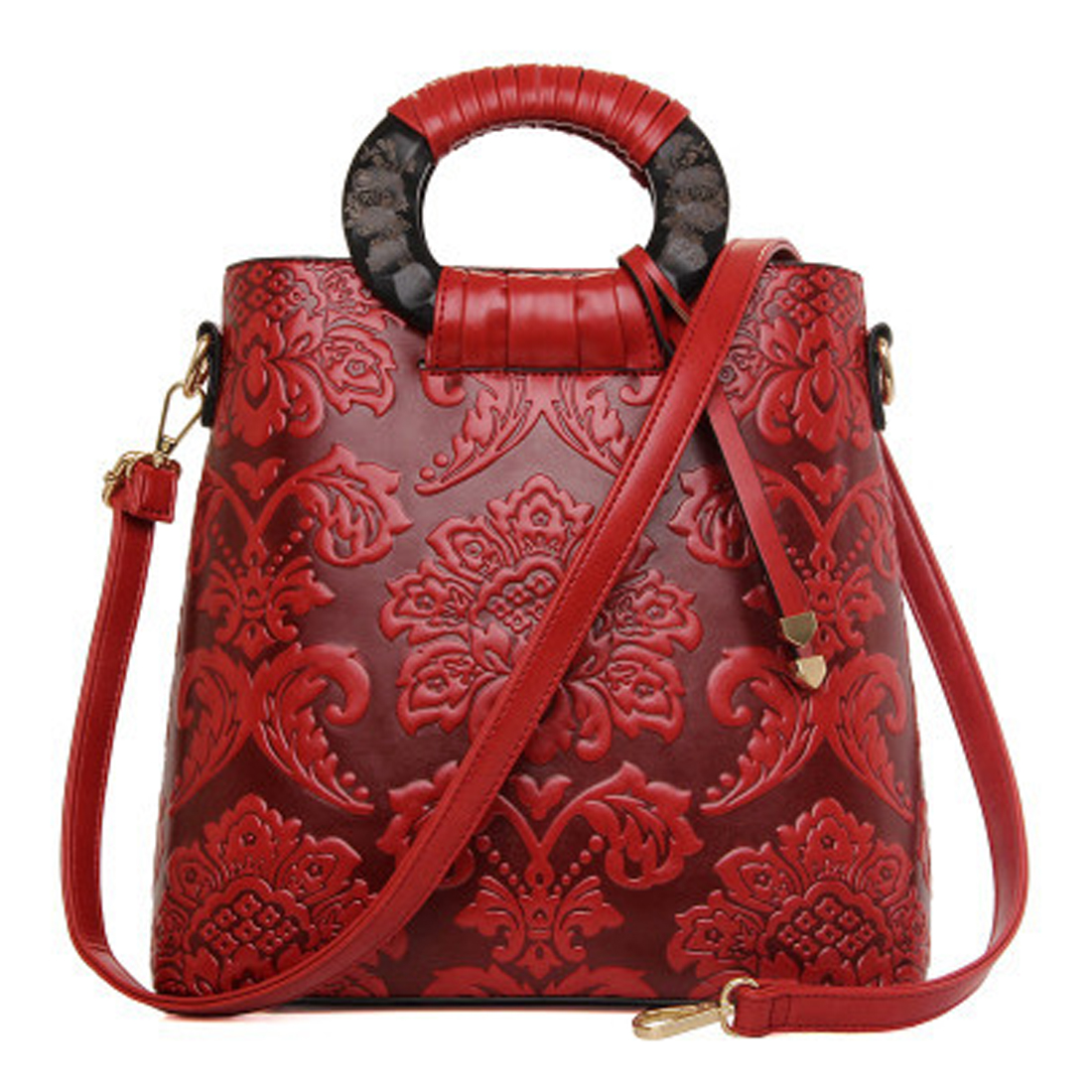 Ethnic Style Woman Bags 2018 Tote Bag Handbag Fashion Handbags Vintage Leather Ladies Crossbody Single Shoulder Bag 2018 new style genuine leather woman handbag vintage metal ring cloe shoulder bag ladies casual tote fashion chain crossbody bag