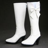 Wamami 27 1 3 BJD SD Dollfie Leather High Heels Boots White