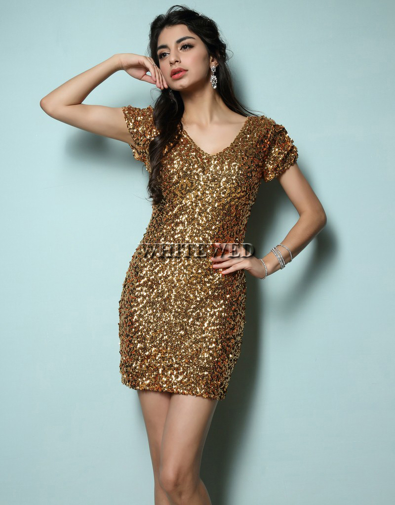 Popular Navy Gold Cocktail Dresses-Buy Cheap Navy Gold Cocktail ...