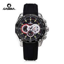 CASIMA Men Military Sport Quartz Watch Luminous Chronograph Silicone Clock 3D Waterproof Stainless Steel Case Relogio Masculino