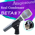 Real Condenser Microphone BETA87A !! TOP Quality Vocal BETA 87A 87 Condenser Wire Mic Handheld Microphone with Amazing Sound