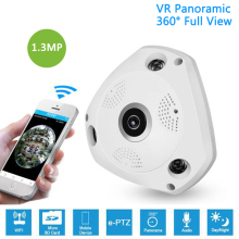 1.3MP IP VR Camera WiFi Network Fisheye 1.44mm 360 Panoramic Wi-Fi Cameras 960P Wireless Surveillance CCTV Cam support VR BOX sannce 360 degree wireless panoramic camera 960p network wi fi fisheye security ip camera wifi 1 3mp video built in mic speaker