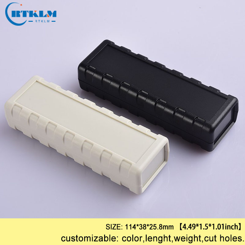 ABS Plastic Enclosures Electric Box DIY Speaker Enclosure Instrument Case Electrical Box Desktop Junction Box 114*38*25.8mm