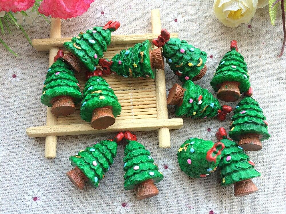 Free Shipping! Resin Christmas Tree Cabochons Micro
