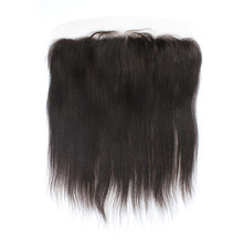 Free Shipping Lace Frontal Brazillian Virgin Hair Straight 13″*4″ Swiss Lace Baby Hair No Shedding