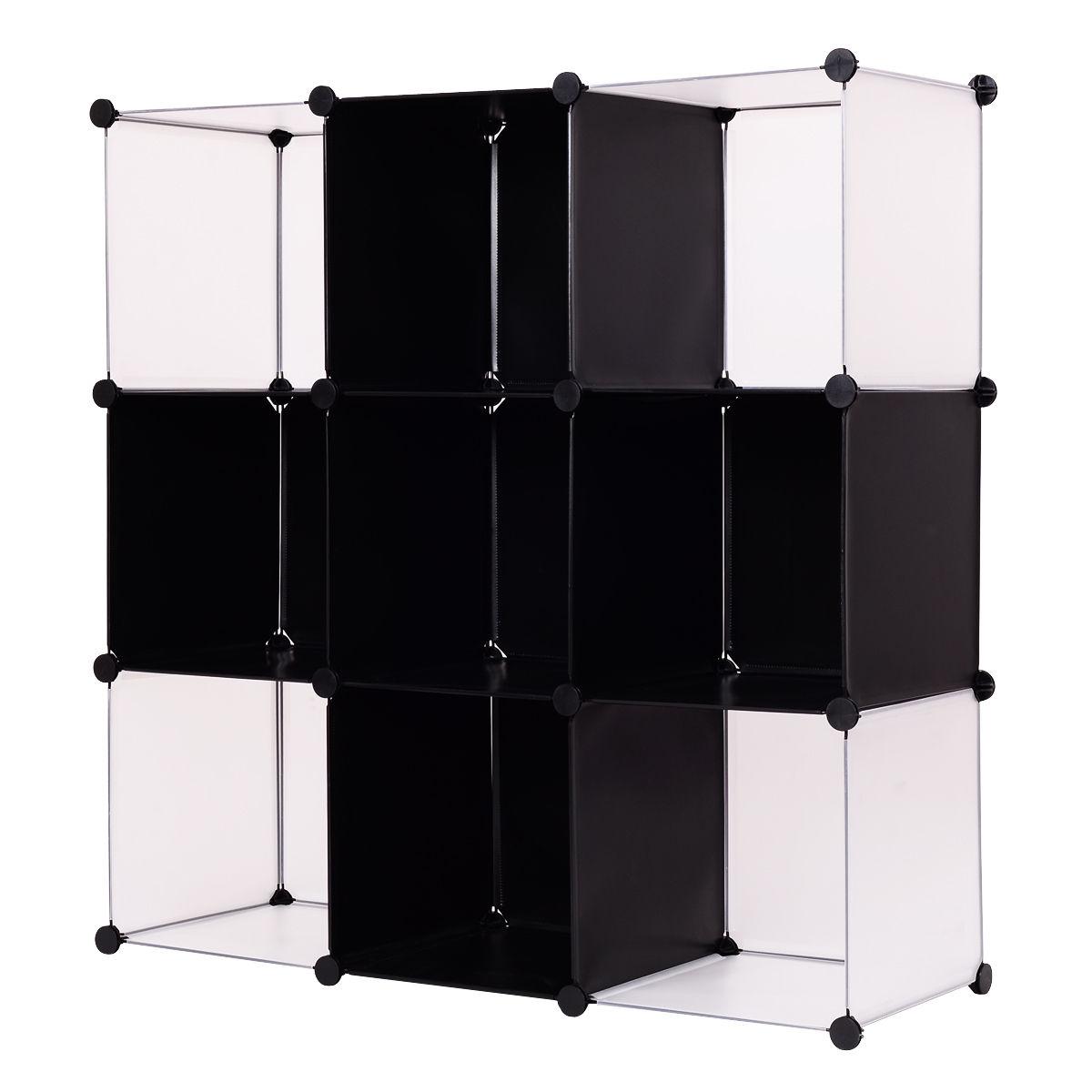 Us 28 99 Giantex 3 Tier 9 Cubic Bookcase Living Room Storage Cabinet Shelf Modern Diy Closet Organizer Office Home Furniture Hw54798 On Aliexpress