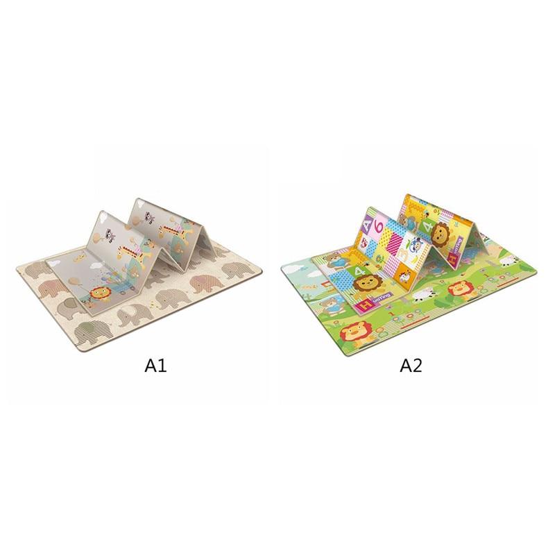 Tapis de jeu rampant antidérapant pliable pour enfants bébé écologique maison tapis Double face résistant à l'humidité sans odeur - 6