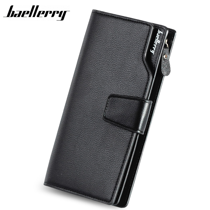 BAELLERRY Men Wallets Casual Fashion Wallet Long Male Purse Clutch bag Brand Leather Wallet Credit Card Holders Gift For Men ysdx 398 fashion stainless steel self stirring mug black silver 2 x aaa