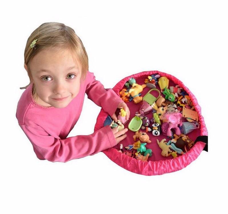 sac de rangement lego tapis de jeu portable pour enfants de 45cm sac de rangement de jouets boite de rangement de jouets lego sacs de rangement