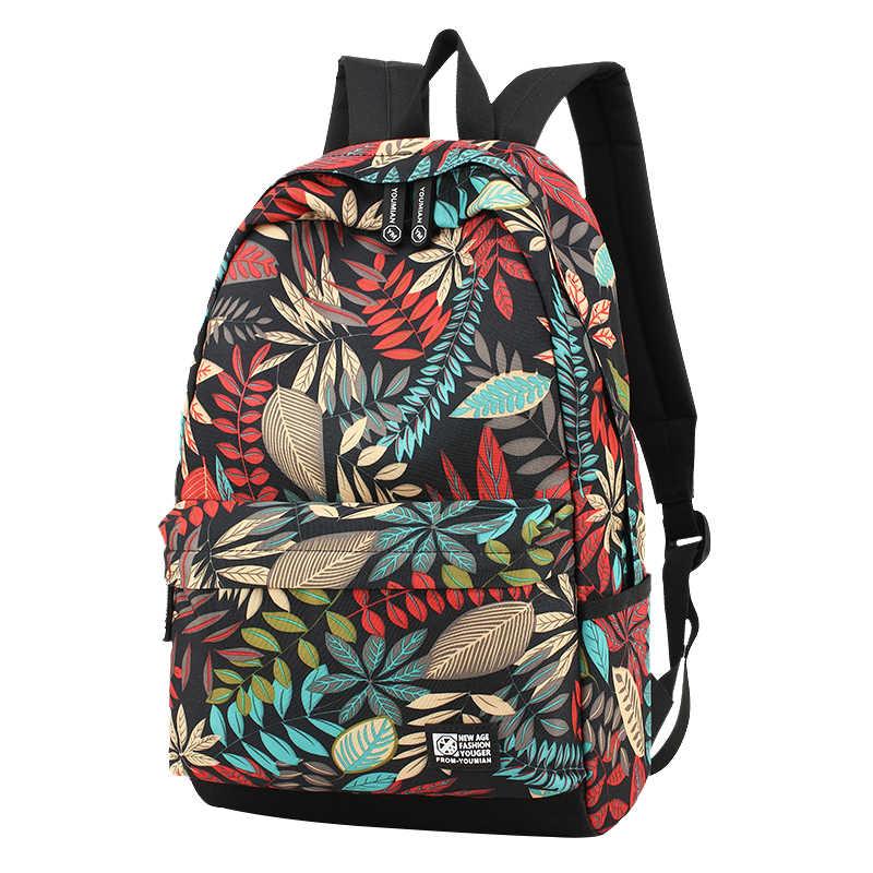 Nuevo bolso grande para mujer, bolsa de viaje para escuela, bolsa para estudiantes mochila con impresión impermeable, mochilas escolares para niños y niñas adolescentes