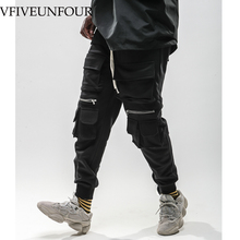 VFIVEUNFOUR 2019 New Arrivals Zipper Multi Pockets Harem Joggers Cargo Pants Sweatpants Streetwear Mens Harajuku Trousers