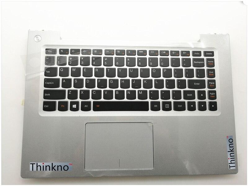 新レノボ Ideapad U430 U430P Us キーボード + タッチパッドのバックでパームレストトップケース大文字シルバーまたは黒  グループ上の パソコン & オフィス からの ノートパソコン修理部品 の中 1