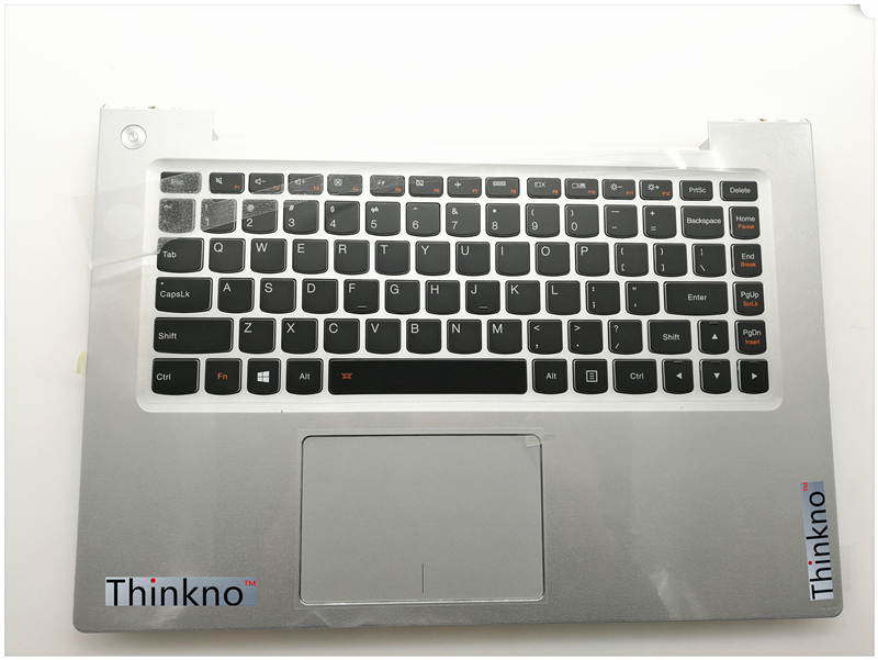 New Original for Lenovo Ideapad U430 U430P US Keyboard + Palmrest Top Upper Case with Touchpad Backlit Silver or Black-in Laptop Repair Components from Computer & Office    1