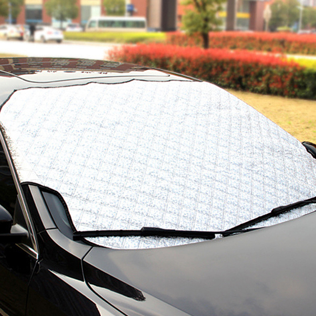 Car covers case Snow Shield  Sun Shade Cover for Auto Documents Half car cover Car styling Windscreen #iCarmo