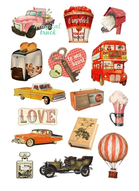 Vintage Stickers For Cars Notebook Decoration Luggage