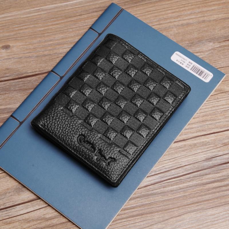 Купить с кэшбэком Short Ultra - Slim Brand Wallet Genuine Leather Wallet Men 2019 New Youth Wallet With Card Holder Male Short Mini Purse Designer