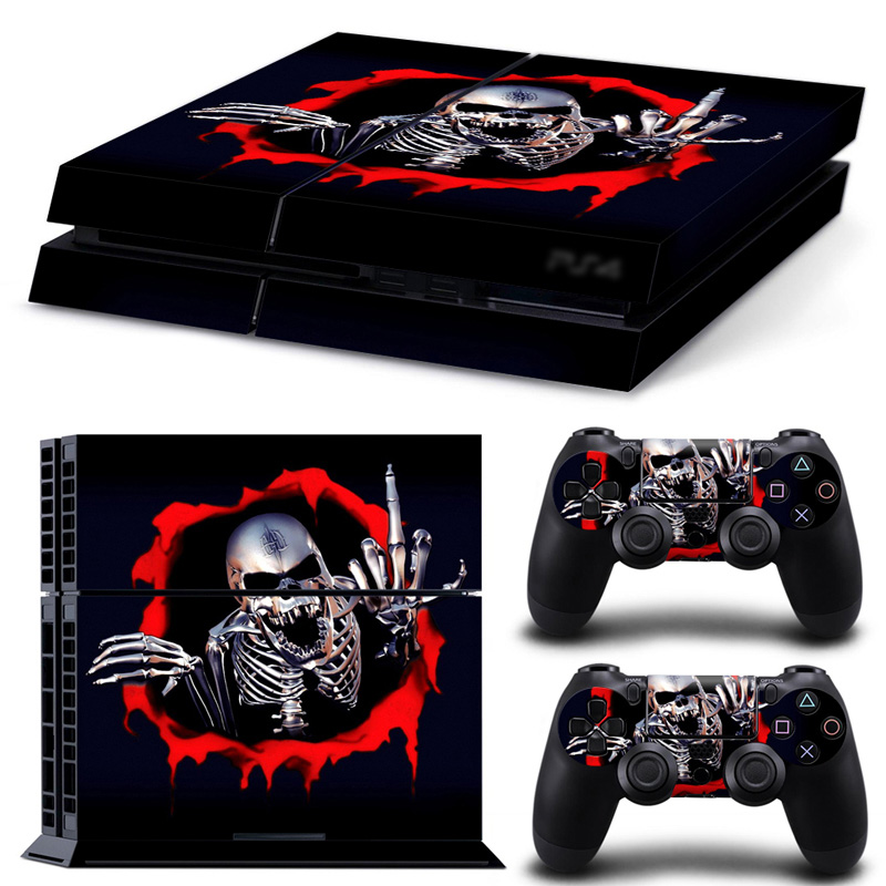 Decal Skin FOR PS4 Console Cover For Playstaion 4 Console PS4 Skin Stickers+ 2Pcs Controller Protective PS 4 Skins Accessory image