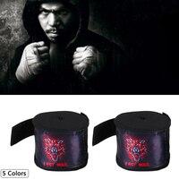 1 paar 5M Einfarbig Sports Boxing Bandage Strap Sanda Muay Thai Kämpfen Boxen Handschuhe Schutz Handgelenk Training Zubehör| |   -