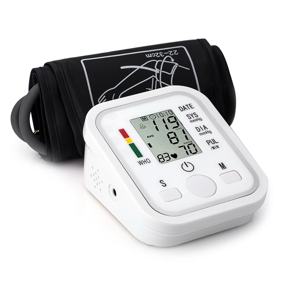 Automatic Arm Electronic Digital Blood Pressure Meter Monitor Measurement Health Care Sphygmomanometer tool with Voice Function