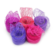 5cm 10YD Lace Tulle Roll Spool Ribbons Netting Fabric For DIY Wedding Party Chair Sash Bow