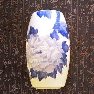 Image 3 - Novo chinês pingente lâmpada para cozinha sala de jantar sala estar suspensão luminária pendurado cerâmica quarto lustres luminárias