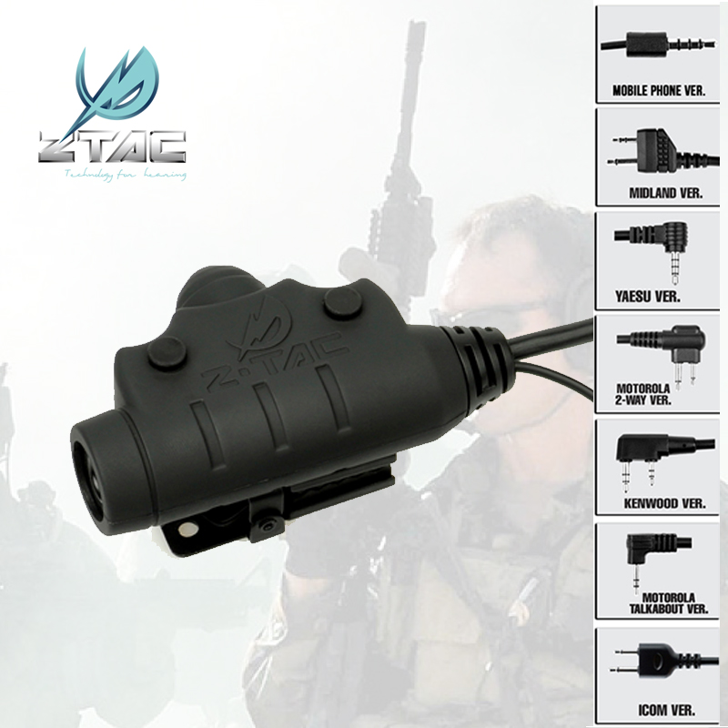 Z TAC Z 115 Headset Accessorie Z-Tactical Hunting Noise Reduction Headphone peltor softair ipsc KENWOOD midland sinairsoft PTT