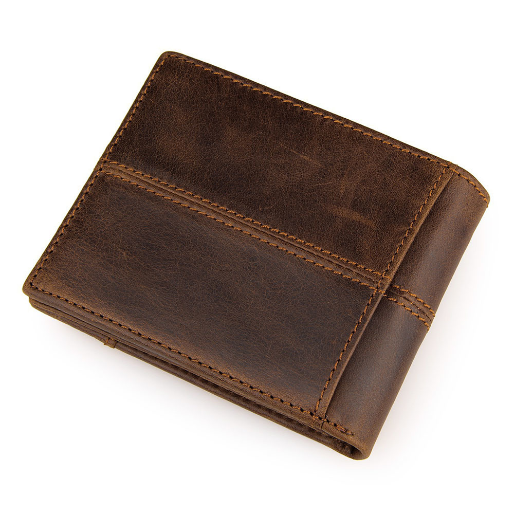 100% Echtem Leder Männer Brieftaschen Top Qualität Rindsleder Mode Splice Geldbörse Carteira Masculina Dünne Brieftaschen Freies Verschiffen Reinweiß Und LichtdurchläSsig