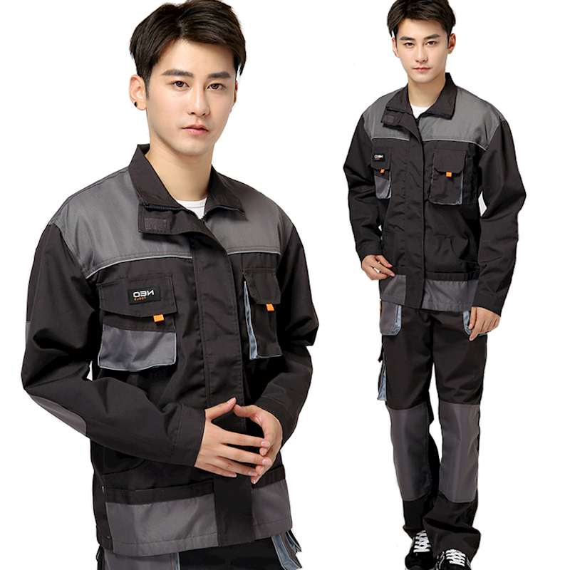 Men's Conjoined Work Clothes High quality Durable Work Wear Long Sleeve Tooling Uniform Loose Casual Coveralls