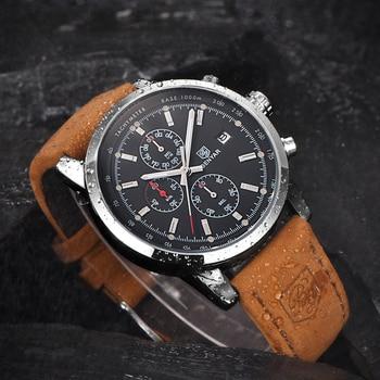 BENYAR Fashion Chronograph Sport Mens Watches Top Brand Luxury Quartz Watch Reloj Hombre saat Clock Male hour relogio Masculino 5